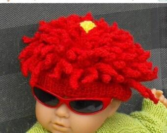 50% OFF SALE Instant Digital File pdf download Knitting Pattern - Baby Red Dahlia Flower Beanie Hat pdf Knitting Pattern