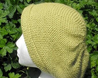40% OFF SALE Instant digital file pdf download knitting pattern -Garter Stitch Slouch Hat  pdf knitting pattern