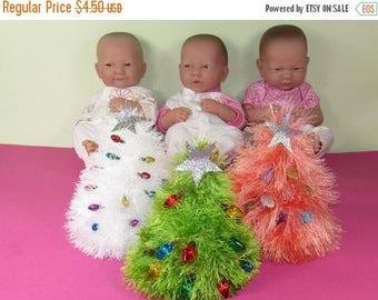 40% OFF SALE Instant Digital File pdf download madmonkeyknits Baby christmas Tree Beanie Hat pdf knitting pattern