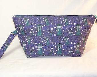 Night Tardis Beckett Bag - Premium Fabric