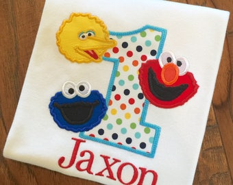 Boys Sesame Street Birthday Shirt