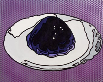 Pop Art Grape Jell-O Mold Painting