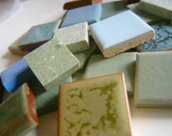 Bulk Mosaic Tile 5 Pounds Blue Green Mx
