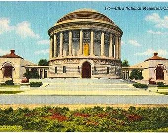 Vintage Chicago Postcard - The Elks National Memorial (Unused)