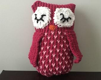 Knit Owl Toy, Knit Owl Stuffed Animal, Knit Owl, Owl Stuffed Animal, Nursery Decor, Owl Nursery, Owl Nursery Decoration
