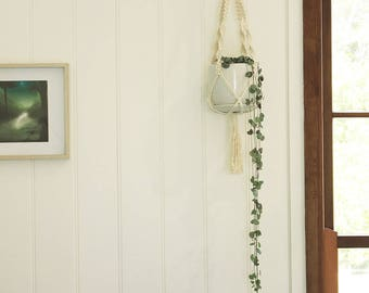 Macrame Plant Hanger - Small - Medium Natural Cotton Rope Hanger, Hanging Planter | Made to Order |Free Shipping Australia