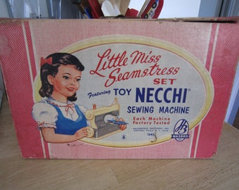 "Hasbro ""Little Miss Seamstress"" Toy Necchi Sewing Machine"