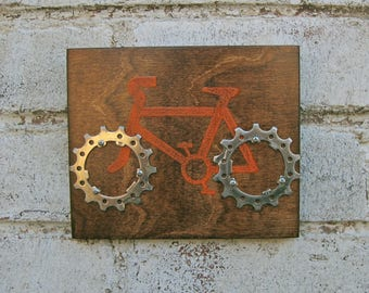 "6""x5"" Recycled Bicycle Cruiser Plaque"