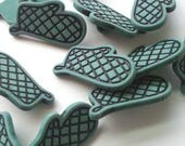 Kitchen Oven Mitt Buttons - Green - 1 inch - YOU PICK QUANTITY Set 12 to 22 - See shop announcement for 60% off code