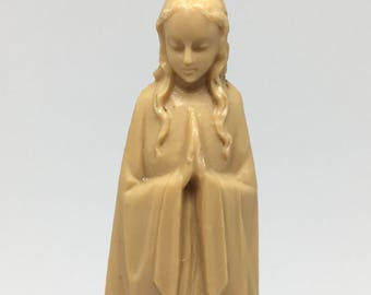 Vintage Small Virgin Mary Statue -  Blessed Mother Madonna Figurine