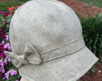 Vintage Cloche in Silk Tweed