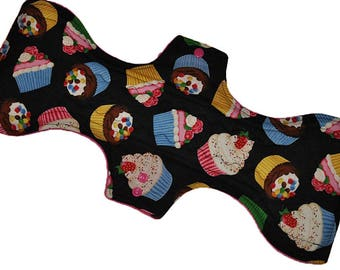 Super Core- Cupcakes Reusable Cloth Goddess XL/Postpartum Pad- 16.5 Inches