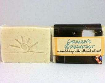 Oatmeal Soap / Unscented Soap / Organic Baby Soap / GRANNY'S BREAKFAST