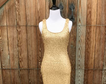 Gold Sequined Sheath