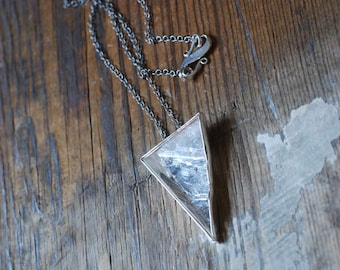 Pyramid Crystal Medallion Necklace