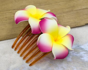 Flower Hair Comb,  Choose The Color, Hair Combs, Plumeria Flowers, Beach Wedding