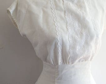 Gunne Sax Dress Vintage White Lace
