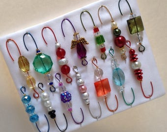 Only One Box Variety*6 - Beaded Ornament Hangers -  FREE SHIPPING