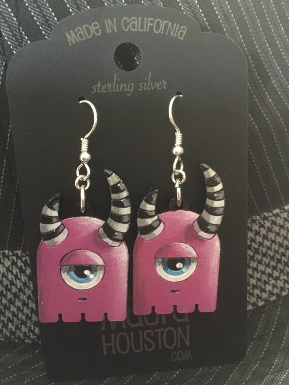 Annoyed Little Monster Earrings