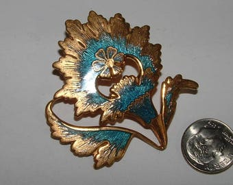 vintage SIGNED MMA - metropolitan museum of art-- flower pin from 1985 - nice collectible