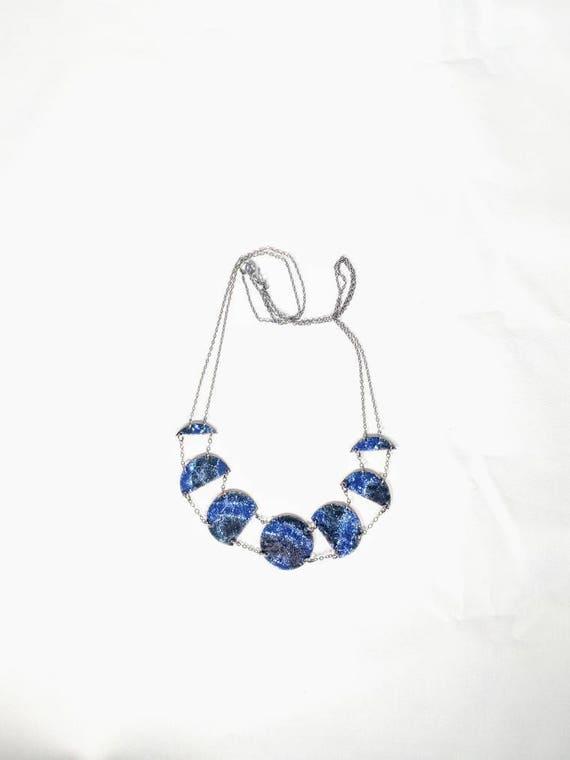 Galactic enamel necklace
