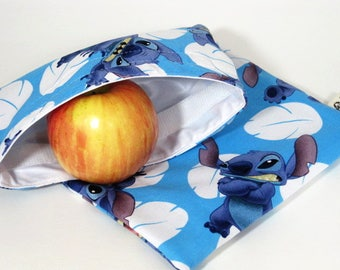 Stitch Reusable Sandwich and Snack Bag Set