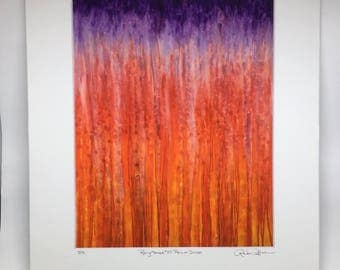New Item! Sunset Rain Giclee Print Fine Art Print Rainy Moments by Rachel Brask