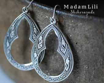 Scheherezade Silver Plated Vintage Earrings