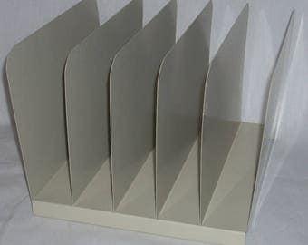 Industrial Desk Metal Folder Paper Letter File Holder Rack