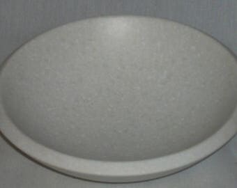 Corian Solid Surface Bowl White Speckled Stone Decorative Bowl (Sm)