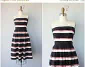25% OFF SALE.. 1980s does 1950s Sun Dress | 80s does 50s Dress | Lanz Originals Dress | Striped Day Dress | Fit and Flare Dress