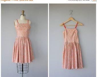 48 HR FLASH SALE 1950s Party Dress   50s Summer Dress   50s Sun Dress   1950s Day Dress