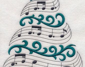 NOTEWORTHY CHRISTMAS TREE - Machine Embroidery Quilt Block (AzEB)