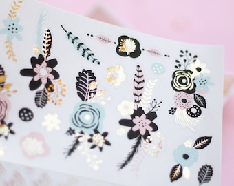 Floral sticker pack for planners, journals, notebooks, cards