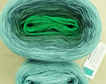 Kit ~ PUERTO -- Color Changing Cotton yarn --  Fingering Weight -- 960 yards