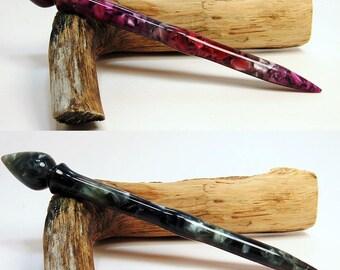 Acrylic Turned Hair Stick, Hawaiian Nights and Star Field, Hair Accessories, Hair Jewerly, Hair Toy, Hair Pin No 233