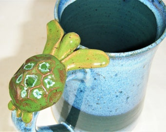 Sea Turtle Mug Ocean Blue Green Turtle Cup
