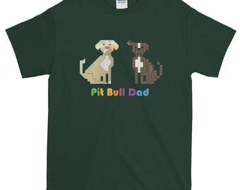 Pit Bull Dad-Colored Men's T-Shirt