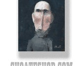 """Abstract Painting. """"Very Gray Sweater"""""""