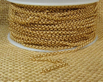 2mm Rolo Chain - Matte Gold - CH48 - Choose Your Length