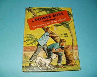 Vintage 1964 Power Boys Adventure Book-The Mystery of the Flying Skeleton by Mel Lyle - Young Readers, Collectible, Illustrated