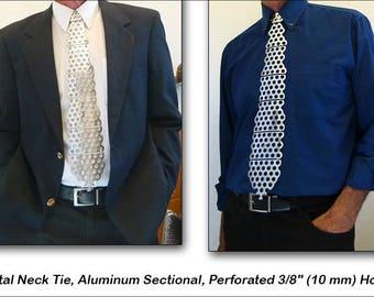 """Metal Necktie, Aluminum, Perforated 3/8"""" (10 mm) Holes"""
