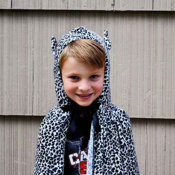 Leopard Spotted Cat Cape Costume