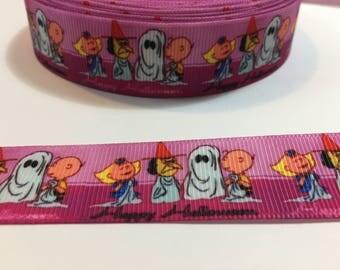 3 Yards of Ribbon - Peanuts Gang Halloween 7/8 inch Wide
