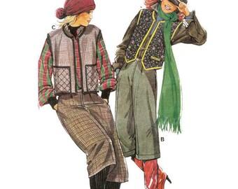 1970s Waistcoat and Culottes Pattern Marie Claire Patron de Paris 8748 B31 - B34