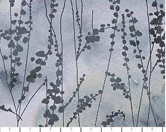 Northcott - Ambrosia - Vine Stems - Twilight - Lt Grey Fabric by yard or select cut  21250-94