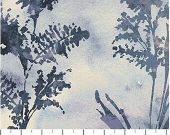 Northcott - Ambrosia - Ferns - Twilight - Grey Fabric by yard or select cut  21253-94