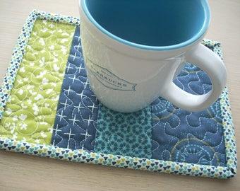 Sunday dinner mug rug - FREE SHIPPING