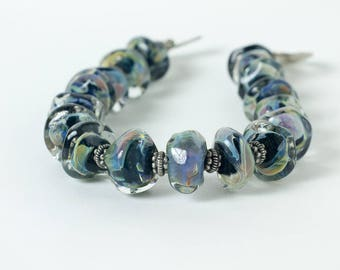 Midnight blue flamework bracelet