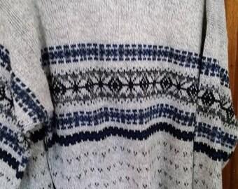 Nice Mens Sweater--sz L-XL--Vintage--Ex Vint Cond